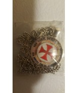 Knights Templar Christian Red Cross Necklace  - $10.99