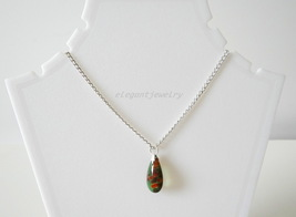 DARK GREEN MURANO PENDANT - $14.00