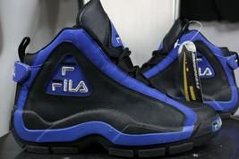 Vintage Fila Groß Hill II Sneakers 5.5 Neu 27.4ms Evergrind Blau Schwarz - $200.00