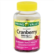 Spring Valley Cranberry Adult Gummies Urinary Track Health 500 mg 60 Gummies - $18.50