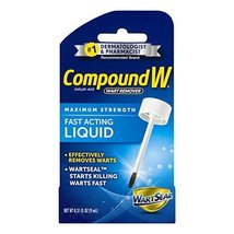 Compound W Fast-Acting Wart Removal Liquid with Brush Applicator - Maxim... - $9.80
