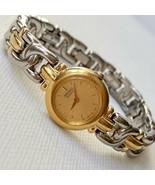 Vintage Seiko Women's Two Tone Watch Gold Dial 1N00-OJ49 Works GREAT - $22.72