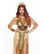 Leg Avenue Sun Goddess Gold Dress Sexy Adult Womens Halloween Costume 86817 - $71.76