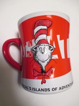 THE CAT IN THE HAT Large Coffee Mug UNIVERSAL ISLAND OF ADVENTURE Dr Seu... - $14.84