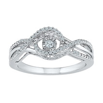 10k White Gold Round Diamond Twinkle Solitaire Wedding Engagement Ring 1... - $323.00
