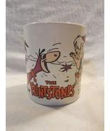 Flintstones 1991 KilnCraft Ceramic Coffee Mug Pebbles, Bamm-Bamm and Dino - $7.95