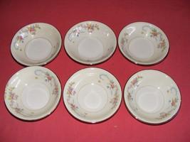 "6 Homer Laughlin Dubarry 5 3/8"" Fruit Dessert Bowls  Eggshell Nautilus - $39.95"
