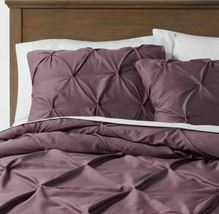 Purple Pinched Pleated Comforter Bedspread Bedding Full/Queen Threshold sealed image 4