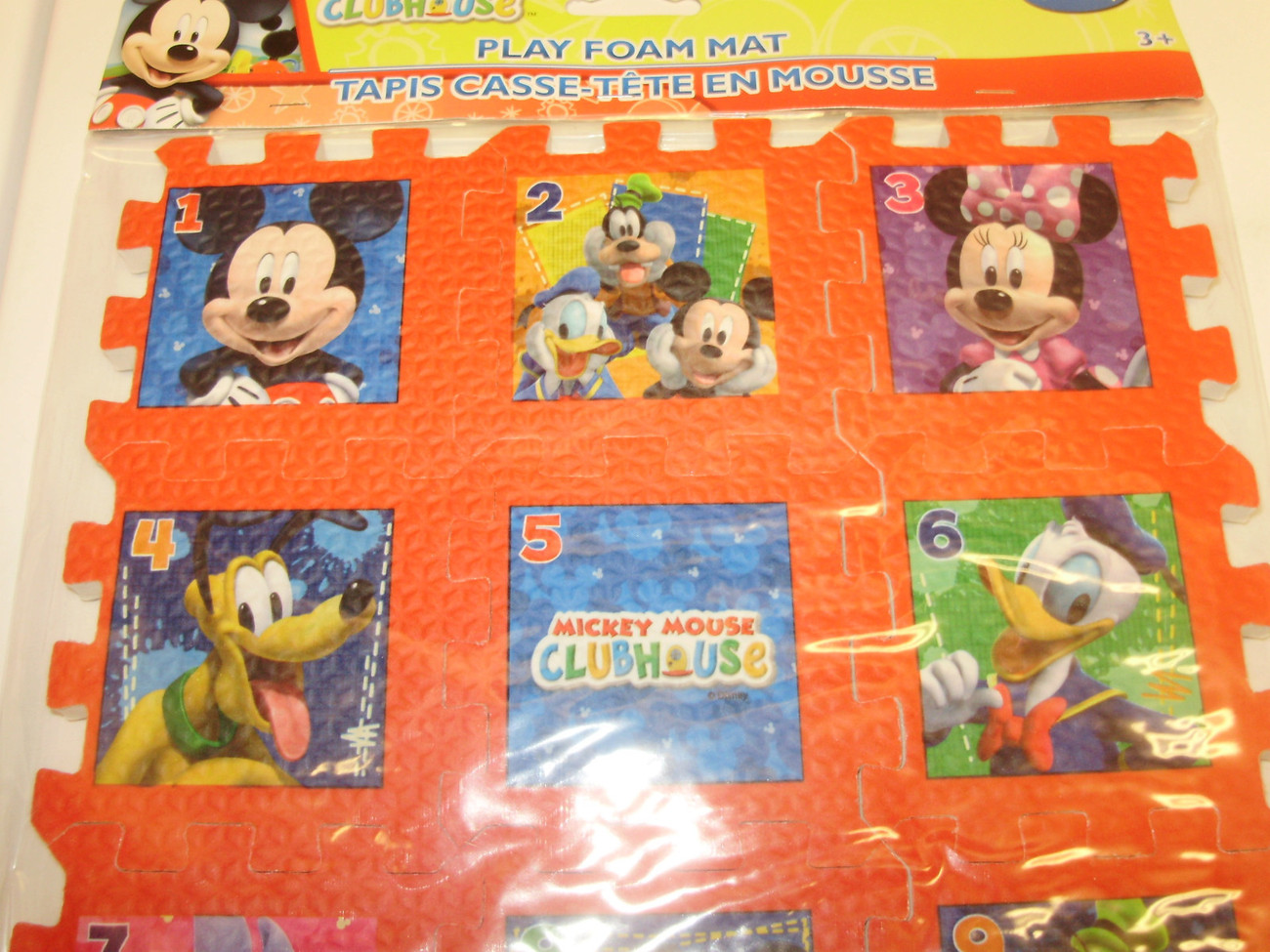 New Disney Mickey Mouse Clubhouse Play Foam Puzzle Mat 1