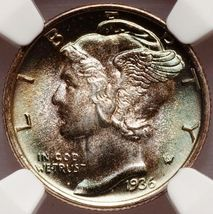 1936 Mercury Dime MS68 Full Bands NGC - $3,250.00