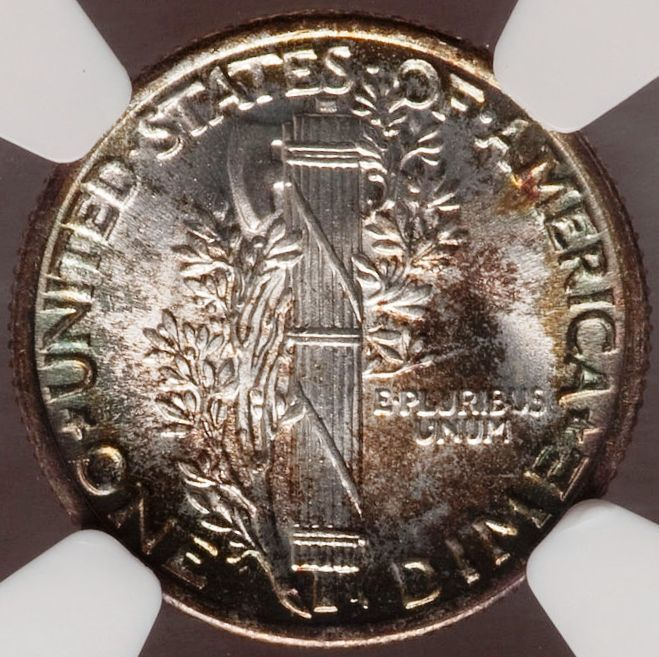 1936 Mercury Dime MS68 Full Bands NGC