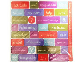 Chipboard Accent Pieces, Set of 6 12x12 Sheets, Bright Colors image 4