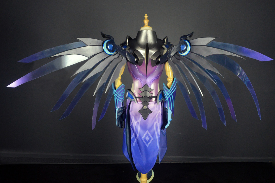 Overwatch Mercy Skin 2019 Atlantic All-Stars Cosplay Armor