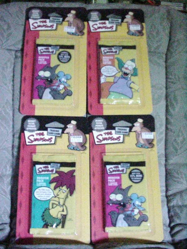 Simpsons Trading Cards Booster Packs~New 44 cards~2003