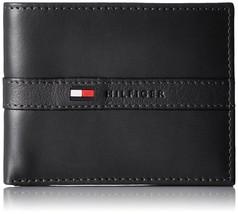 Tommy Hilfiger Men's Leather Wallet Billfold 31TL22X062 Black New w/o Tags