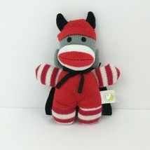 "Devil Sock Monkey Halloween Animal Adventure 8"" Plush Stuffed Animal 2013  - $9.00"