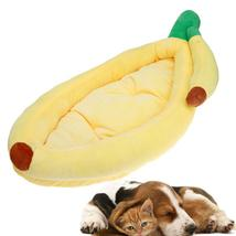 (yellow size M)Pet Products Warm Soft Bed Banana Shape Comfortable Dog H... - $54.00