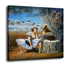 "Cartoon Art Home Decor Oil Painting Print On Canvas""Melody Of Rain""Framed - $11.32+"