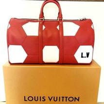 Auth Louis Vuitton Hand Bag Red 2018 FIFA World Cup Keepall 50 Logo LVB0679 - $8,248.68