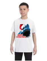 Kids Youth T Shirt Santa Jaws Merry Christmas Ugly Xmas Fun Tee - $18.94
