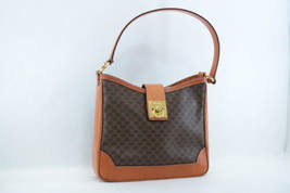 CELINE Macadam PVC Leather Shoulder Bag Brown Auth 7362 - $240.00