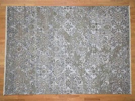 """8'9""""x12'1"""" HandKnotted Silk With Oxidized Wool Oriental Rug G40848 - $2,922.46"""