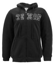 Men's Texas Embroidered Sherpa Lined Warm Zip Up Fleece Hoodie Sweater Jacket image 5