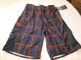 Maui and Sons Niño Juventud Bañador Boardshorts XL 18-20 Negro Cuadros Nwt - $24.04
