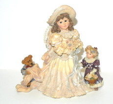 Yesterdays Child Boyds Bears Figurine Emily W/ Kathleen & Otis #3508 Box - $19.75