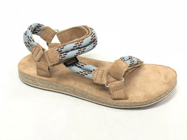 Teva Womens Original Universal Rope Suede Footbed Sandals Canal Blue 101... - $59.99