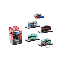 Auto Thentics 3 Cars Set of 1959 Volkswagen Double Cab Truck with Camper... - $52.32