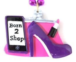 Born 2 Shop Pendant Mardi Gras Necklace Beads Bead Purple Silver - $6.00 CAD