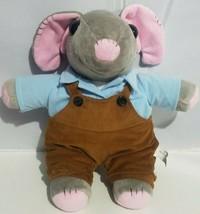 "World War Z Plush Talking Mouse Subway Sam Stuffed Animal Jazwares Gray 14"" 2013 - $17.45"
