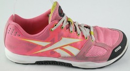 Reebok Crossfit Shoes Womens US Size 6 Pink White Training Sneakers Eu S... - $22.50
