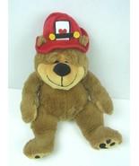 """Burton & Burton Plush 14 1/2"""" Bear with Fireman's Hat   Heart - $18.69"""