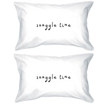 Snuggle Time Funny Statement Pillowcases - Funny Heart Degisn Pillow Cover - $35.99