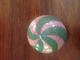 Mackenzie Child Red Green Swirl POttery Drawer Ceramic Cabinet Knob Pull... - $24.75