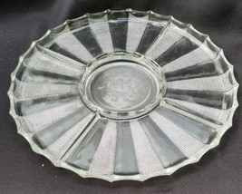 Vintage Clear Jeannette Dewdrop Glass Lazy Susan Base Divided Relish Pla... - $25.00