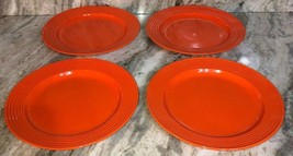 "Royal Norfolk 10 1/2"" Lunch/Dinner Plates Set Of 4 Orange(New)SHIP N 24 ... - $39.08"
