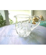 Vintage Clear Crystal Creamer Stars Hand Cuts  c 1940's - $17.81