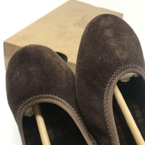 Born Womens Size 8 Julianne Ballet Flats Dark Brown Suede Leather Slip Ons