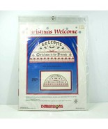 Dimensions Counted Cross Stitch Kit Christmas Welcome #8333 Vintage 1986... - $24.99