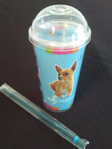 DOG LOVERS CUP Chihuahua Double Wall Insulated with Straw Blue Plastic NEW image 2