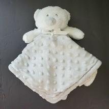 Blankets & Beyond Baby Security Blanket Grey Raised Dots Teddy Bear - $26.06