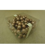 Designer Box of Hanging Balls Decorative 1in Diameter Bronze Glass - $16.92
