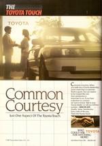 1987 Toyota Touch Common Courtesy Car Auto Dealership Vintage Print Ad 1... - $7.92