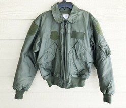 USAF GREEN NOMEX FIRE RESISTANT COLD WEATHER FLYERS JACKET CWU-45/P - ME... - $198.00