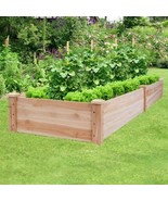 Wooden Vegetable Raised Garden Bed for Backyard Patio Balcony - Color: Wood - £109.85 GBP
