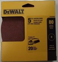 """Dewalt DWAS50080 5"""" x 80 Grit Sanding Discs No Hole Stick-on 20 Pack - $3.47"""