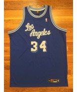 Authentic Nike Los Angeles Lakers HWC Shaquille O'Neal Road Away Blue Je... - $499.99